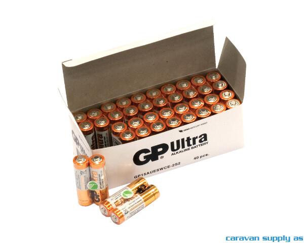 Bilde av Batteri GP Ultra LR6/AA alkalisk 1,5V 40stk