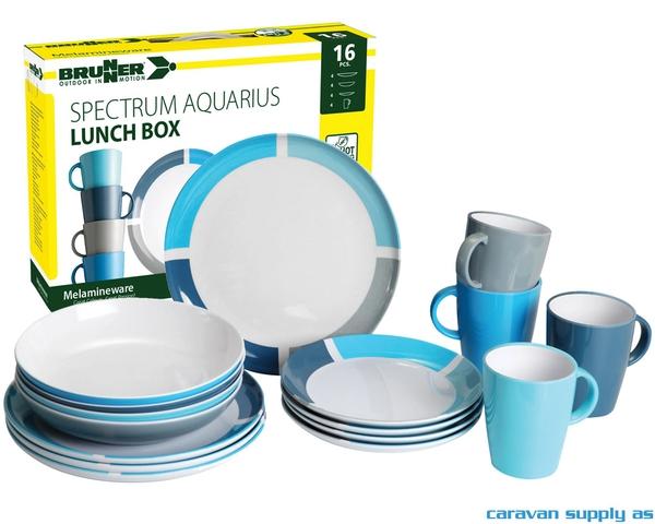Bilde av Servise Brunner Aquarius Lunch Box 16-deler