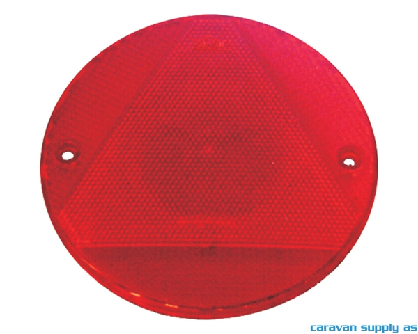 Bilde av Refleks rund/trekant Ø155mm rød