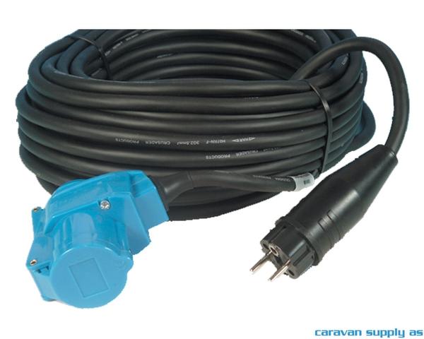 Bilde av Kabel 25m hann schuko + vinkelstikk i plast