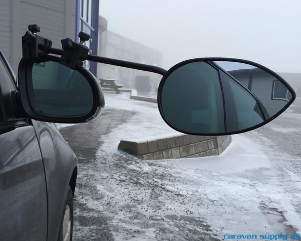 Bilde av Speil Milenco Aero flatt glass m/lang arm 2stk