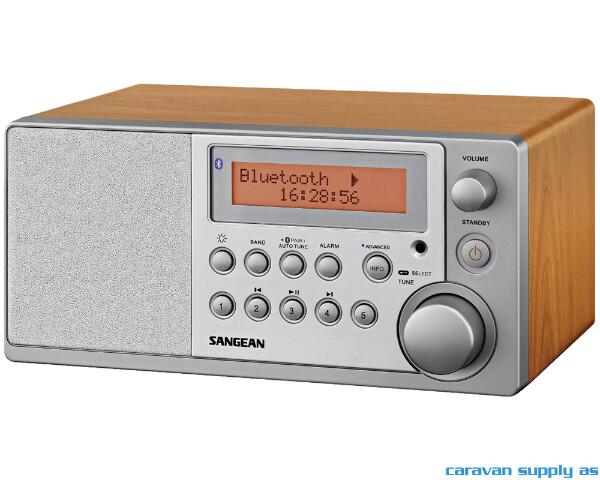Bilde av Radio Sangean DDR31BT DAB+/FM blåtann sølv/tre