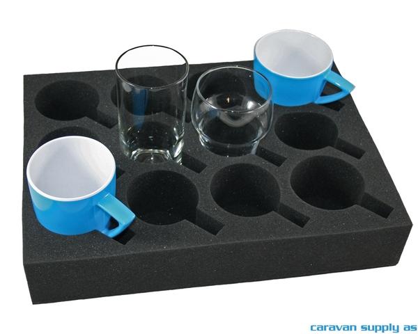 Bilde av Glass/koppholder universal 12-deler skum