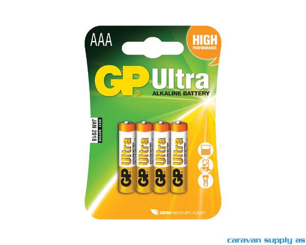 Bilde av Batteri GP Ultra LR03/AAA alkalisk 1,5V 4stk