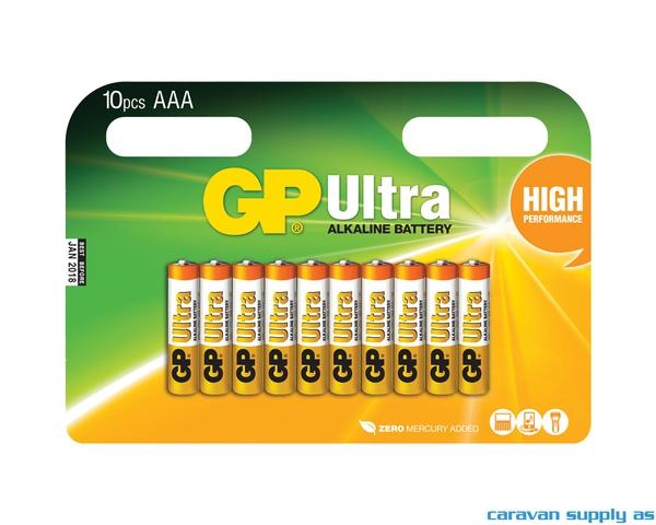 Bilde av Batteri GP Ultra LR03/AAA alkalisk 1,5V 10stk