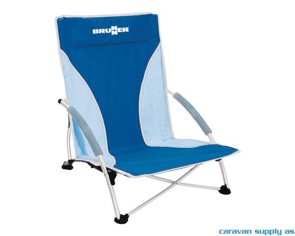 Bilde av Campingstol Brunner Cuba strandstol blå