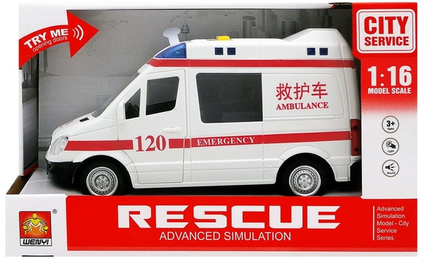 Bilde av WENYI – Ambulanse m/lys og lyd (25cm)