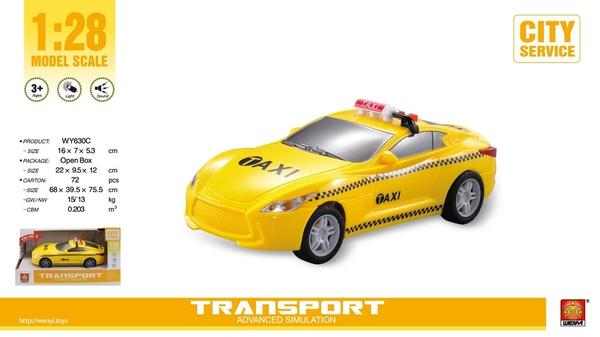 Bilde av WENYI – Taxi m/lys og lyd (17cm)