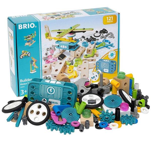Bilde av BRIO Builder motorsett 34591 - med 121 deler