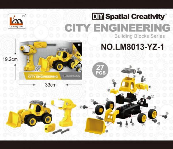 Bilde av CITY ENGINEERING – DIY TRAKTOR M/SKRUMASKIN OG