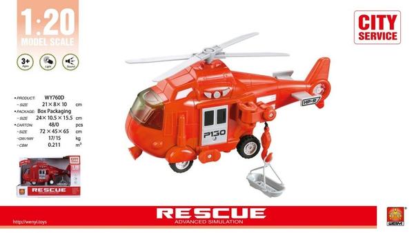 Bilde av WENYI – Redningshelikopter m/lyd og lys (20cm)