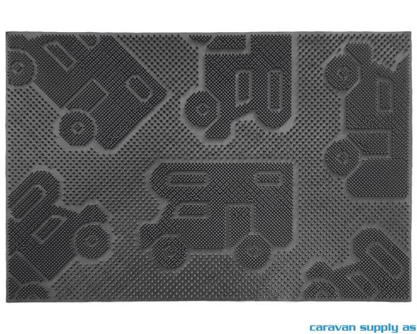 Bilde av Dørmatte Arisol Camper Mat 50x25cm svart gummi