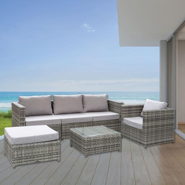 Bilde av Topdesign Sofagruppe i 6 deler med sjeselong