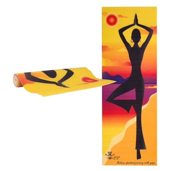 Bilde av Yogamatte inSPORTline Medita - Yellow Bag