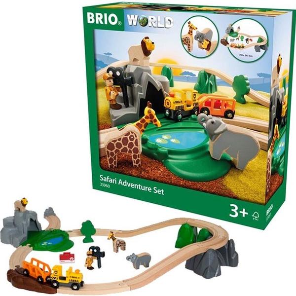 Bilde av BRIO Safari leketog sett 33960 i 26 deler