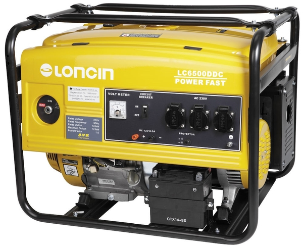 Bilde av Loncin LC6500DDC – 1-fas strømaggregat