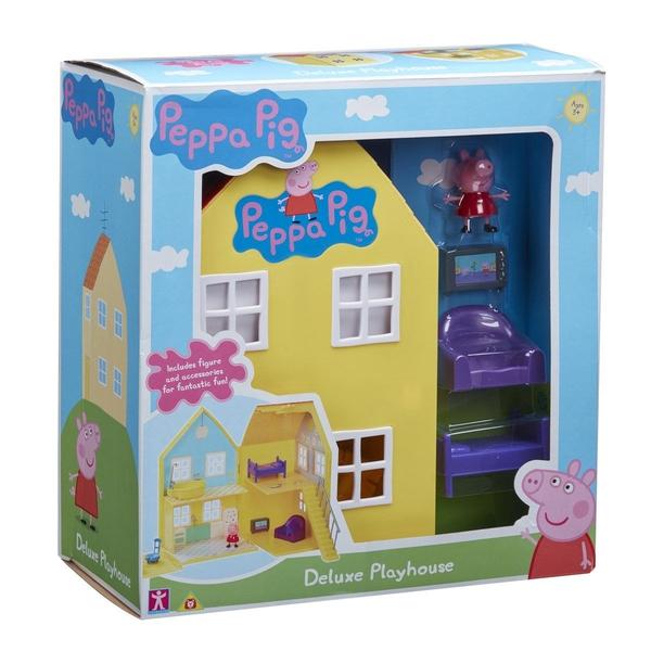 Bilde av Peppa Gris Deluxe lekehus med figur og møbler