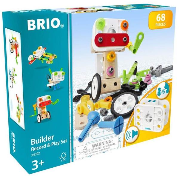 Bilde av BRIO Builder record and play byggesett - 68 deler