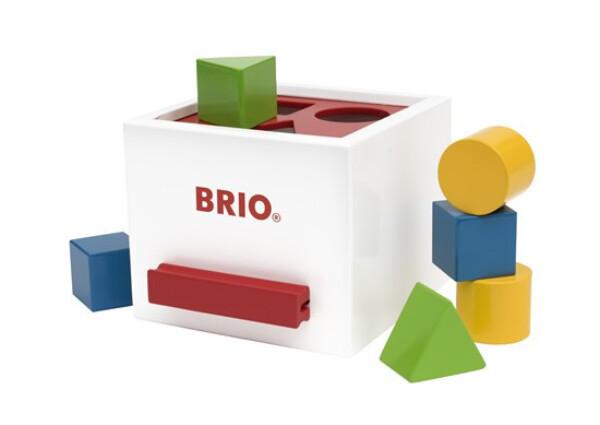 Bilde av BRIO sorteringsboks og puttekasse i tre 30250