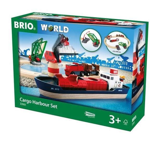 Bilde av BRIO Togbane Havne sett 16 deler