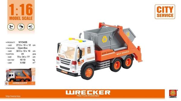 Bilde av WENYI – Container bil m/lyd og lys (32cm)