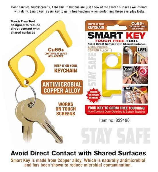 Bilde av SMART KEY – Hygienisk døråpner , terminaltrykker