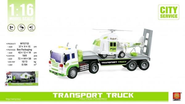 Bilde av WENYI – Transporter m/helicopter, lyd og lys