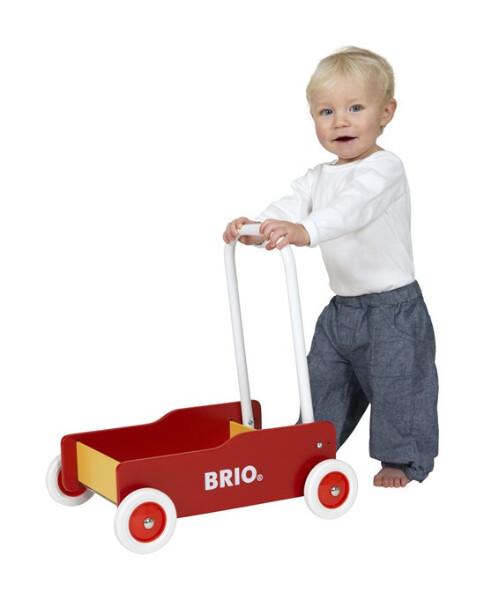 Bilde av BRIO® Lær å Gå vogn - rød