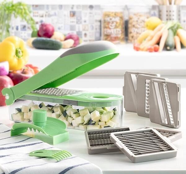 Bilde av 7-i-1 grønnsaksskjærer, rivjern og mandolin