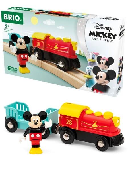 Bilde av BRIO Disney Mikke Mus batteritog med vogn og