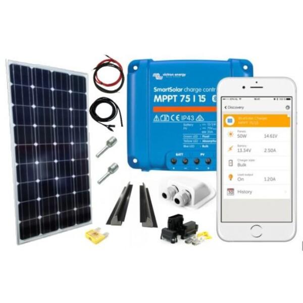 Bilde av Solcellepakke BobilSilver Mono Komplett kit 200w