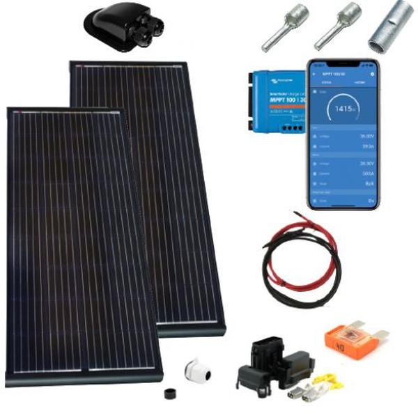 Bilde av Solcellepakke Bobil200W Black komplett kit