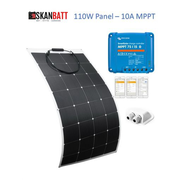 Bilde av Solcellepakke Bobil 110Wkomplett kit