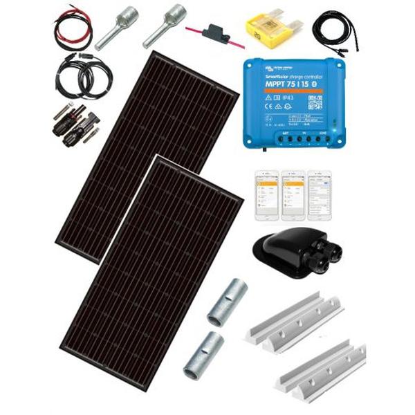 Bilde av Solcellepakke Bobil 2x100W SLIM -15A
