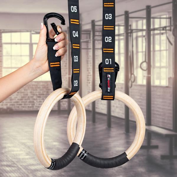 Bilde av inSPORTline Wooden Gymnastic Rings Suspe