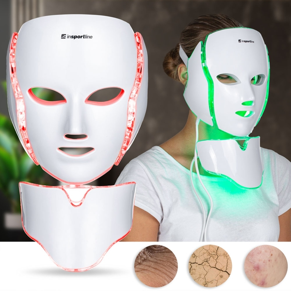 Bilde av LED Face/Neck Mask Light Therapy inSPORTline