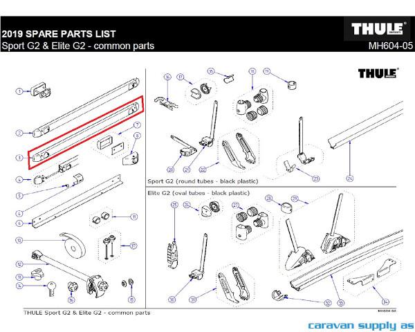 Bilde av Thule bottom mounting rail for blind mounting