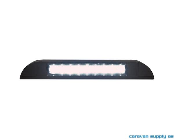Bilde av Lampe til dør Caletta LED 12V 235x35x40mm svart