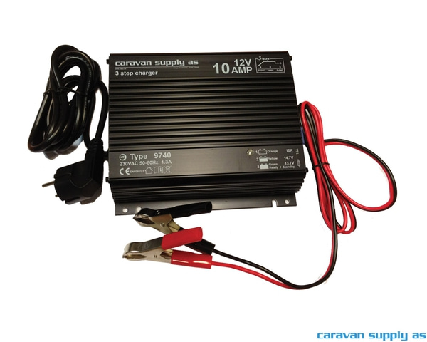 Bilde av Batterilader Mascot 9740 10A 12V 3trinn batklem