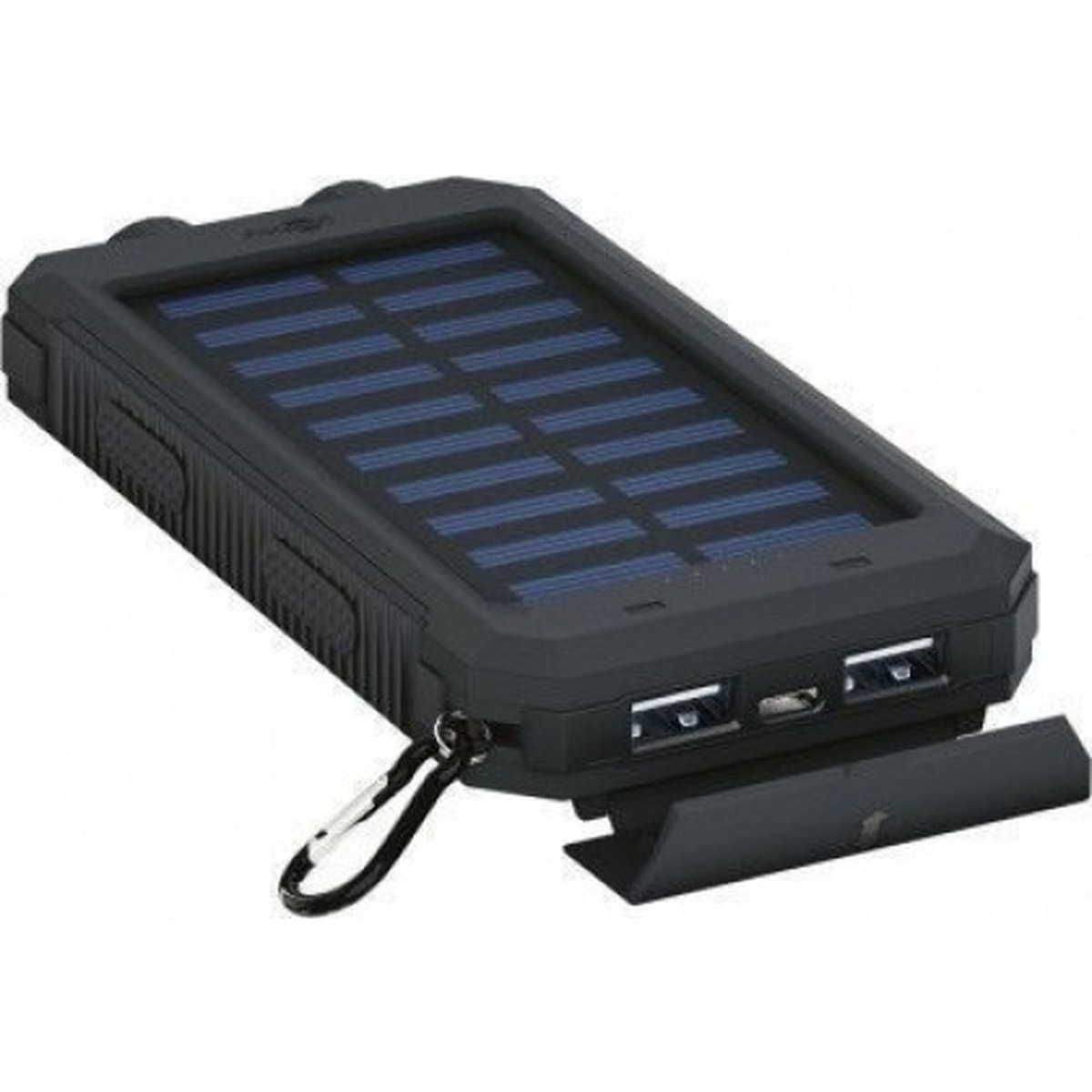Powerbank / Nødlader 8000mAh m/solcelle