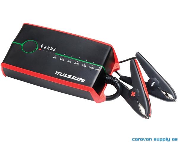 Bilde av Batterilader Mascot 3245 7A 12V 6trinn batklem