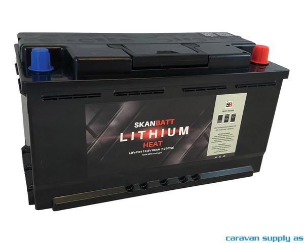 Bilde av Litiumbatteri SkanBatt 12V 98AH BMS BT Heat