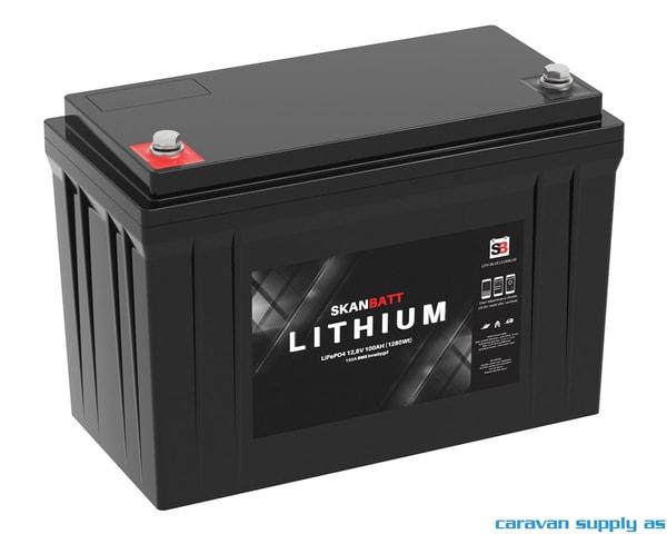 Bilde av Litiumbatteri SkanBatt 12V 100AH BMS BT