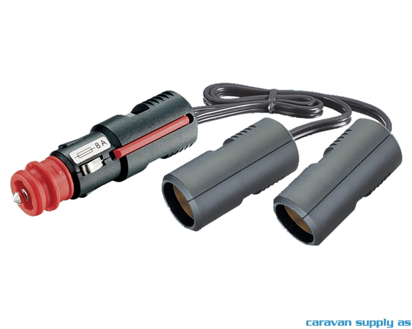 Bilde av 12V adapter uni plugg - 2 x uni plugg m/kabel