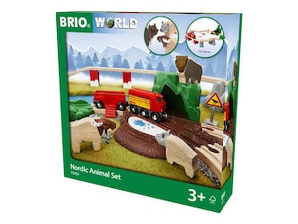 Bilde av BRIO World - 33988 Nordic Animal Togsett
