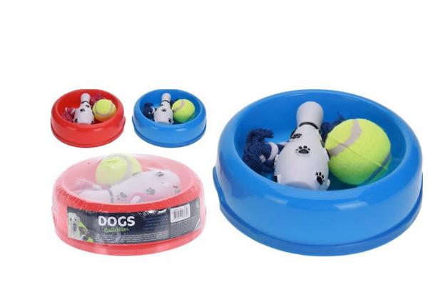 Bilde av PETS lekesett til hund 4 deler Ass. farge