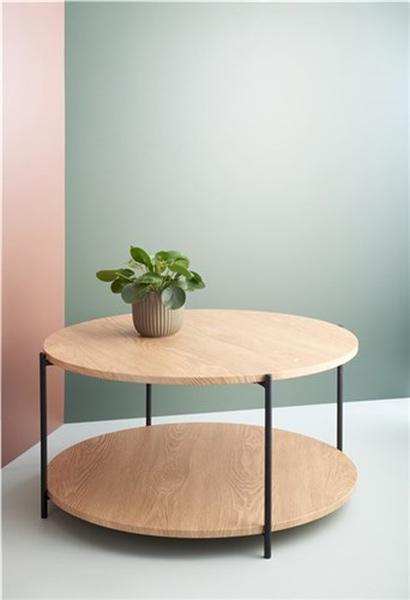 Bilde av Day sofabord med hylle Ø70cm