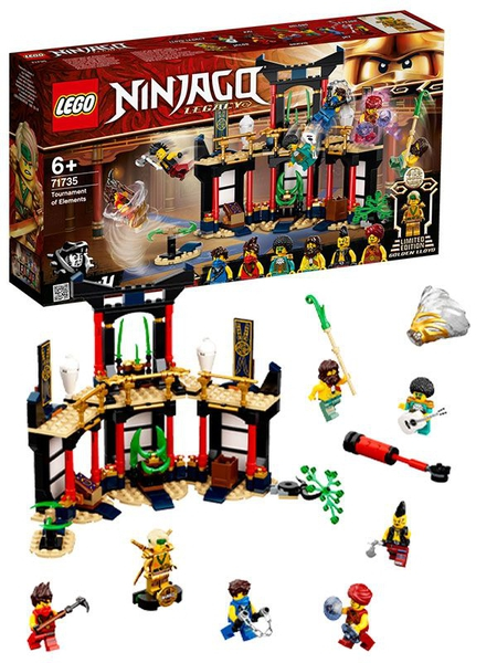 Bilde av LEGO Ninjago 71735 Legacy elementturneringen