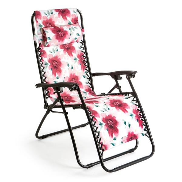 Bilde av Strandrecliner / strandstol med nakkepute