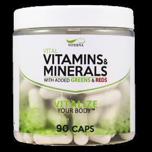 Bilde av Viterna Multivitamin/Mineral/Greens/Reds - 90